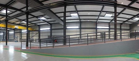 Construction phase IV: Another view of our expanded factory
